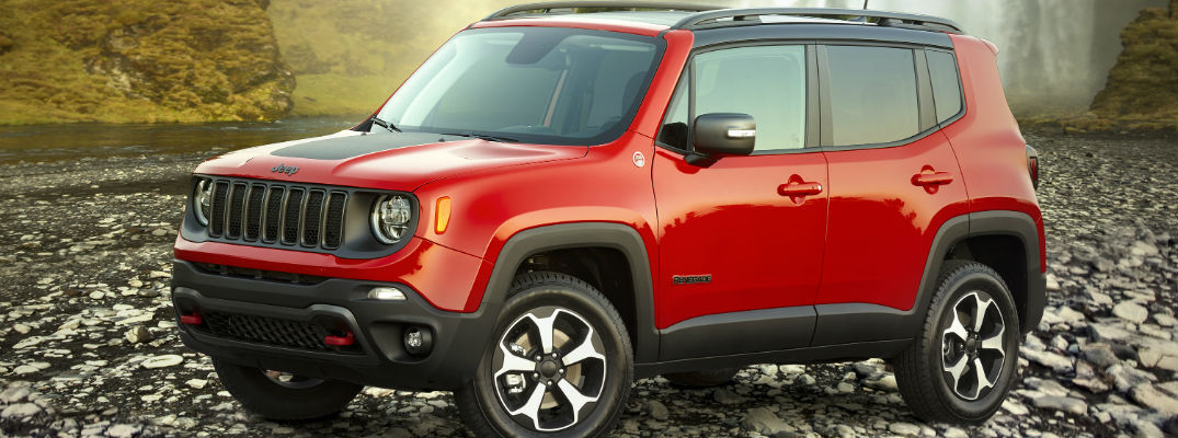 A left profile photo of the 2019 Jeep Renegade.