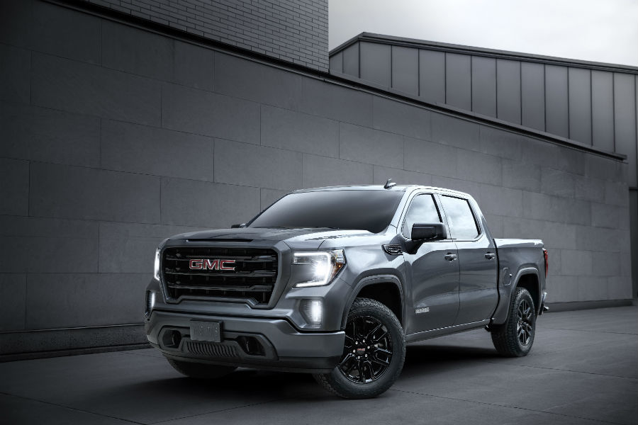 A front left quarter photo of the 2020 GMC Sierra Elevation Edition with its new crew cab configuration.