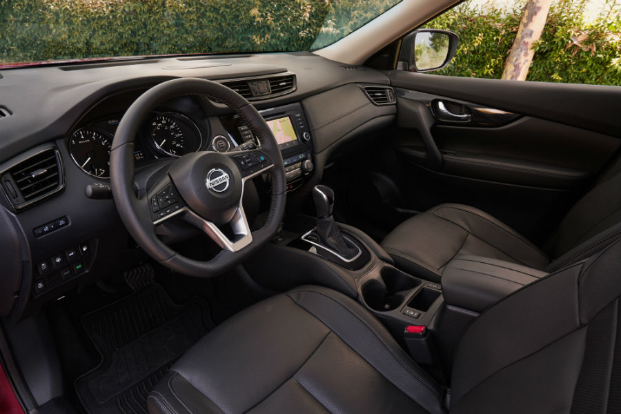 A photo of the front seats in the 2020 Nissan Rogue.