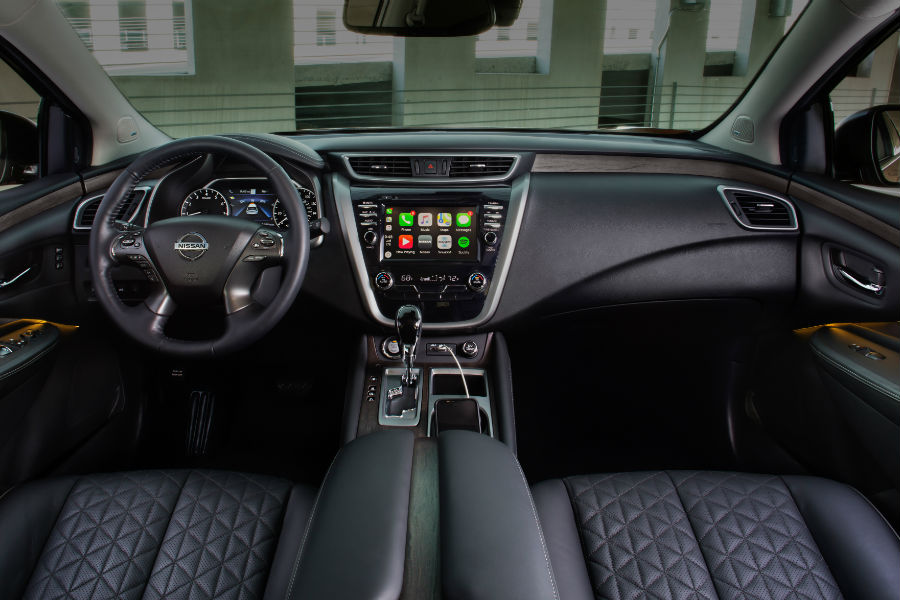 A photo of the dashboard in the 2020 Nissan Murano.