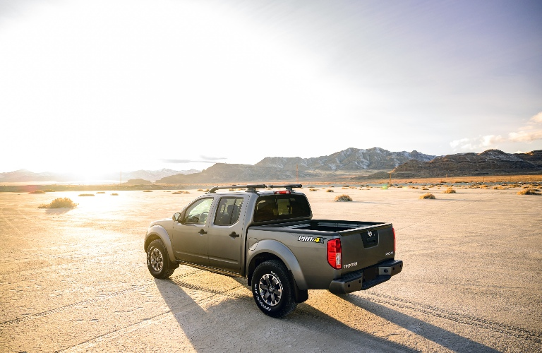 2020 Nissan Frontier admiring the sunset