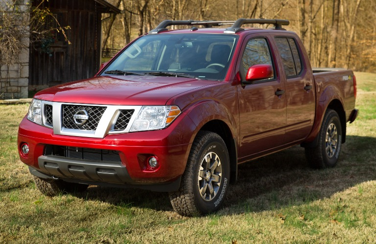 2020 Nissan Frontier parked on the grass