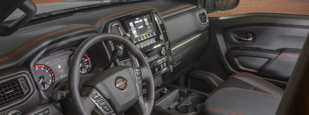 A photo of the inside of the 2021 Nissan Titan.