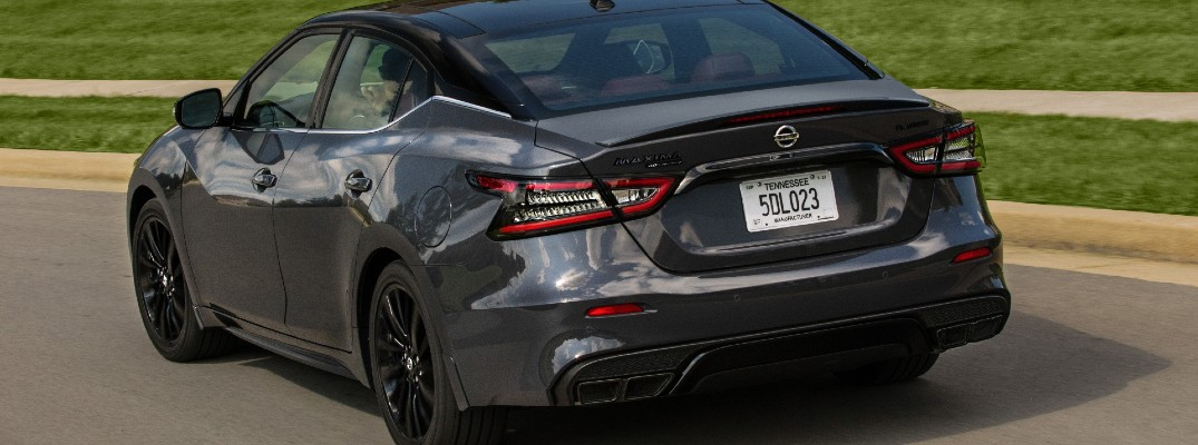 A photo of the trunk lid used by the 2021 Nissan Maxima.