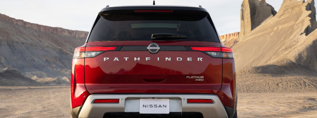 A rear photo of the 2022 Nissan Pathfinder.