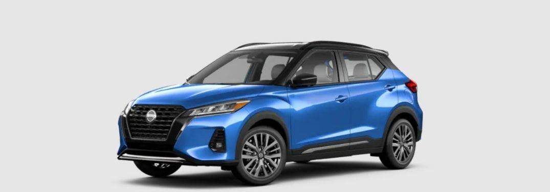 2021 Nissan Kicks Blue Front and Side View