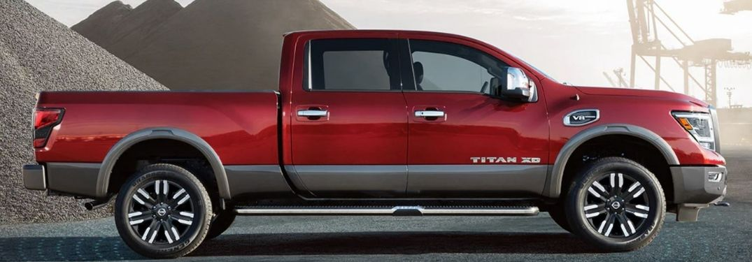 2021 Nissan Titan Red Side View
