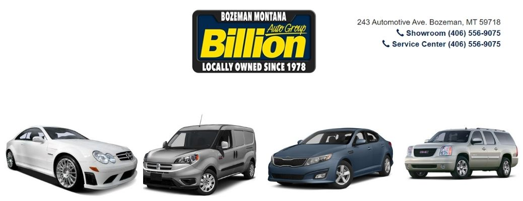 View of some of the vehicles available in Bozeman, MT