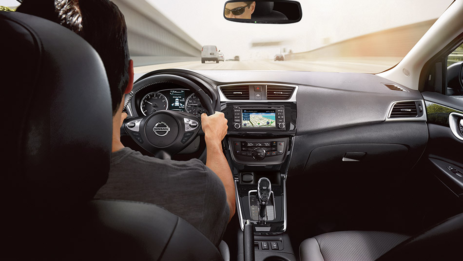 2016 Nissan Sentra Interior Charcoal Leather Large O