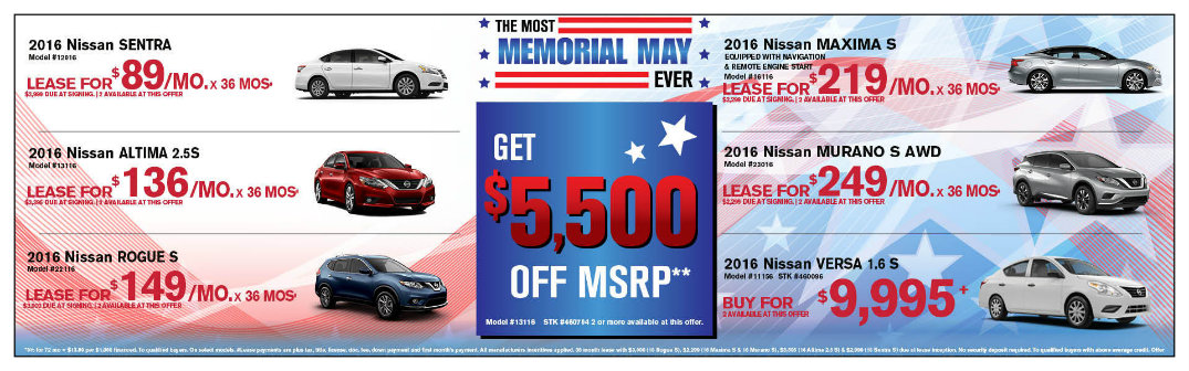 Memorial Day Car Sales 2017 >> Memorial Day Vehicle Specials Glendale Heights Il