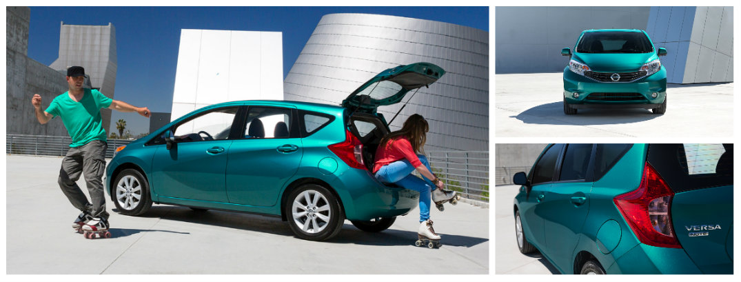 ... Front And Rear Views Of Nissan Versa Note