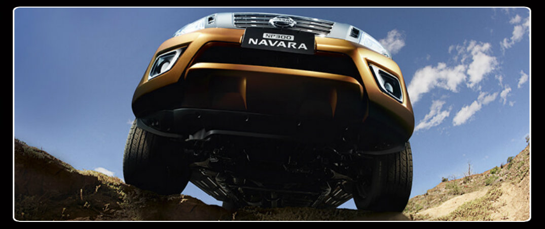 front view and underbody nissan navara
