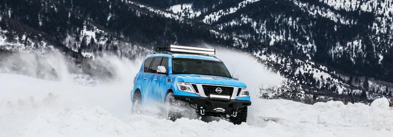 Nissan Armada Snow Patrol concept driving through snow