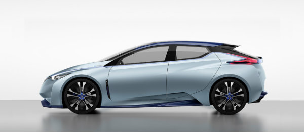 Side profile of the Nissan IDS concept self-driving car