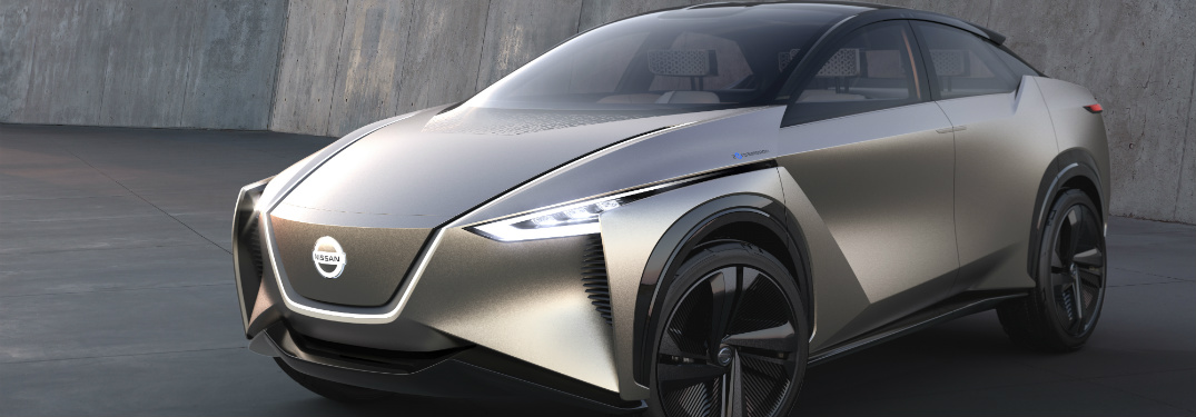 Close up of a silver Nissan IMx KURO concept