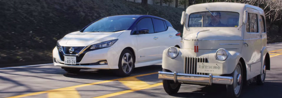 Nissan Tama and 2018 Nissan LEAF side by side