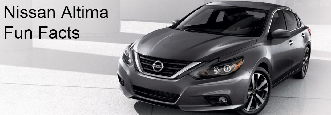 Nissan Altima Fun Facts text beside Nissan Altima