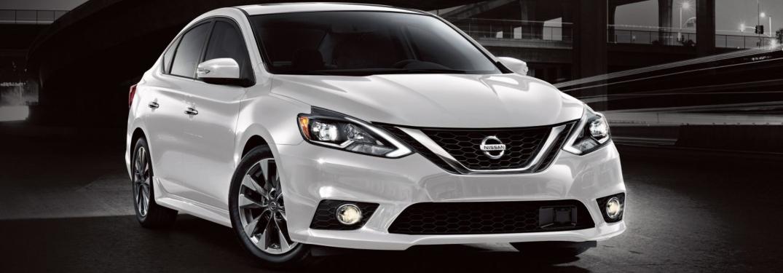 White 2018 Nissan Sentra on black background