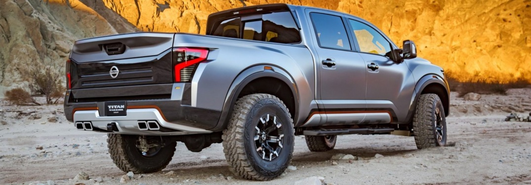 ... Rear Side View Of A Nissan TITAN Warrior Concept