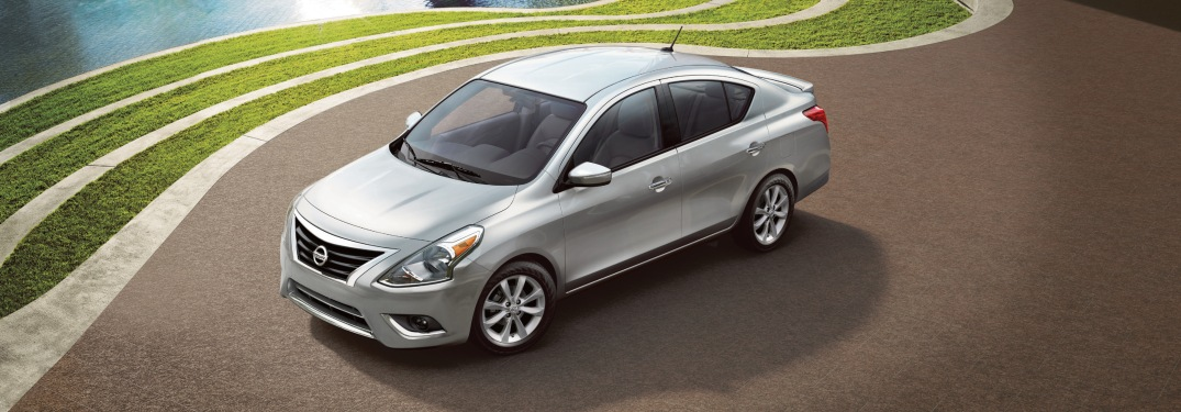 Overhead view of a silver 2018.5 Nissan Versa