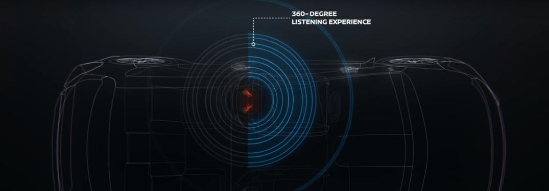 Diagram of Bose UltraNearfield Headrest Speakers