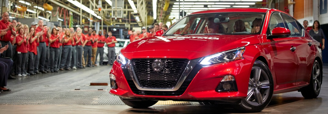 2019 Nissan Altima at the Nissan Smyrna plant