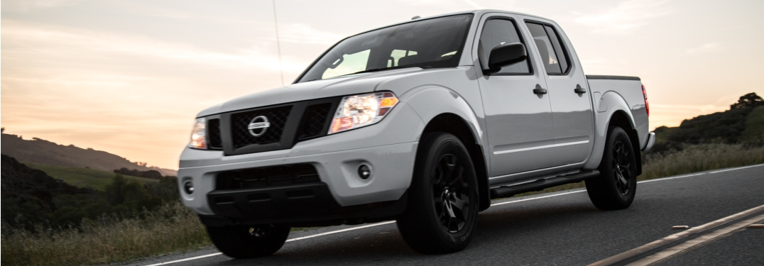 Front side view of a 2019 Nissan Frontier
