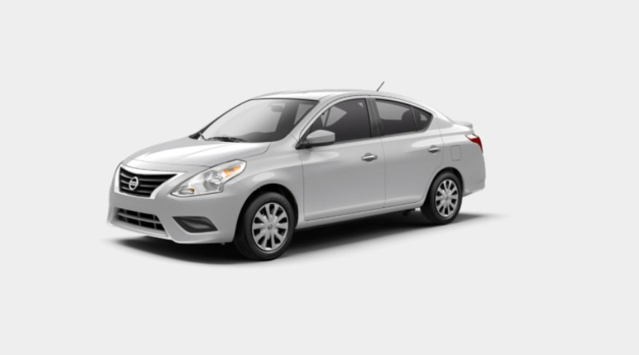 2019 Nissan Versa in Brilliant Silver Metallic