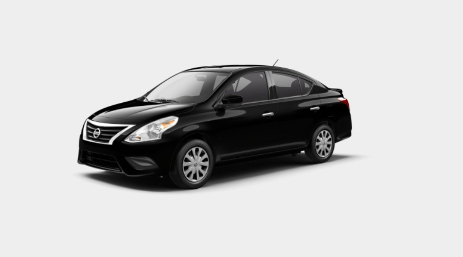2019 Nissan Versa in Super Black