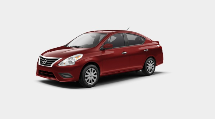 2019 Nissan Versa in Cayenne Red Metallic