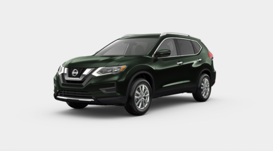 2019 Nissan Rogue in Midnight Pine Metallic