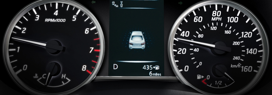 Speedometer in the 2019 Nissan Sentra