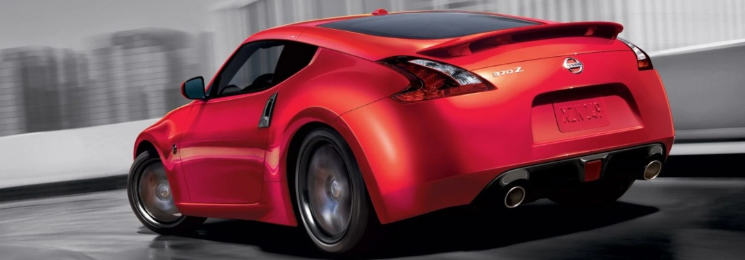 Red 2019 Nissan 370Z Coupe driving on track