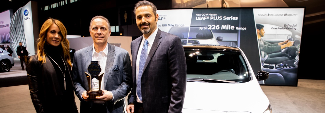 Nissan being presented with KBB Awards at 2019 Chicago Auto Show