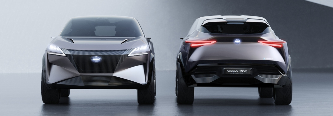Nissan IMQ concept vehicles side by side looking in opposite directions