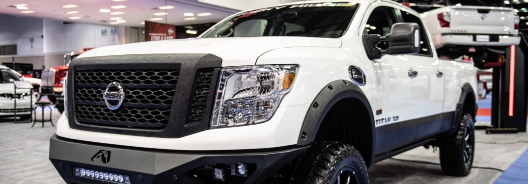 White 2019 Nissan TITAN XD with the Rocky Ridge package
