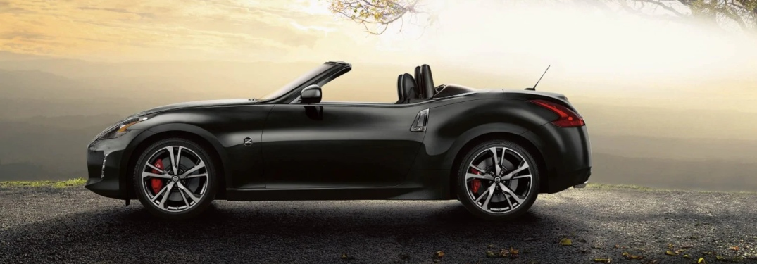 Side view of a black 2019 Nissan 370Z Roadster
