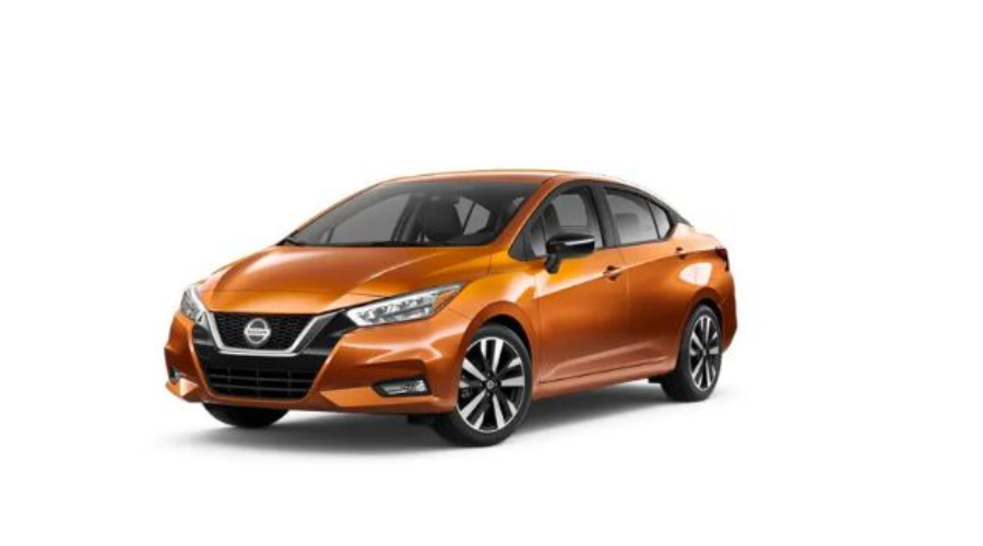 2020 Nissan Versa in Monarch Orange Metallic