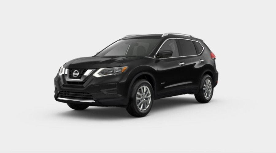 2019 Nissan Rogue Hybrid in Magnetic Black Pearl