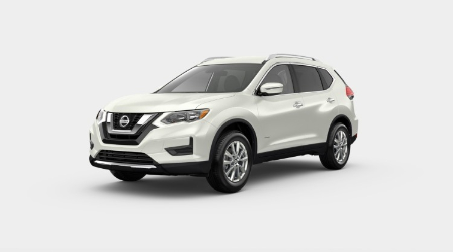 2019 Nissan Rogue Hybrid in Pearl White Tricoat