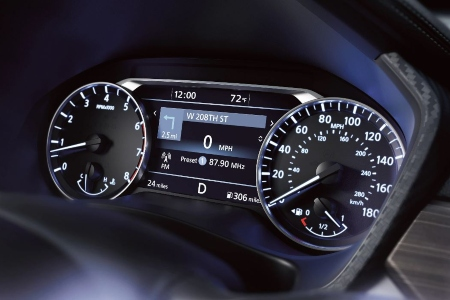 Instrument cluster in the 2020 Nissan Altima