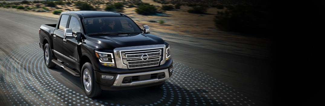 2020 Nissan TITAN driving on highway