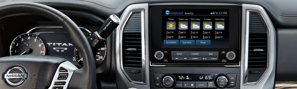 2020 Nissan Titan navigation screen