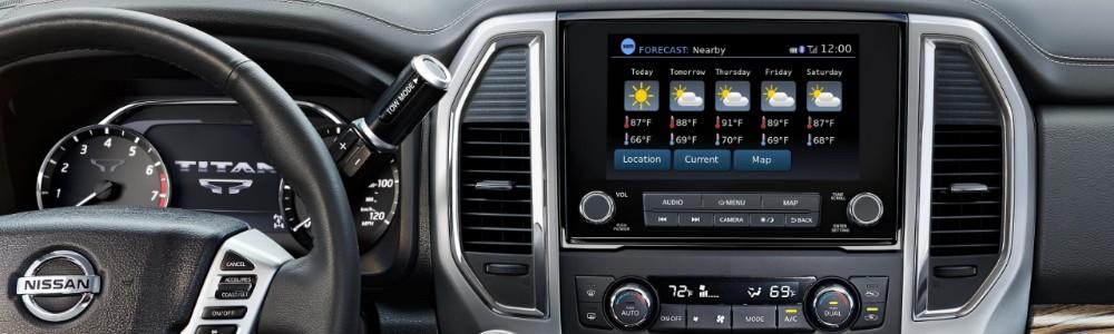 dashboard of the 2020 Nissan TITAN