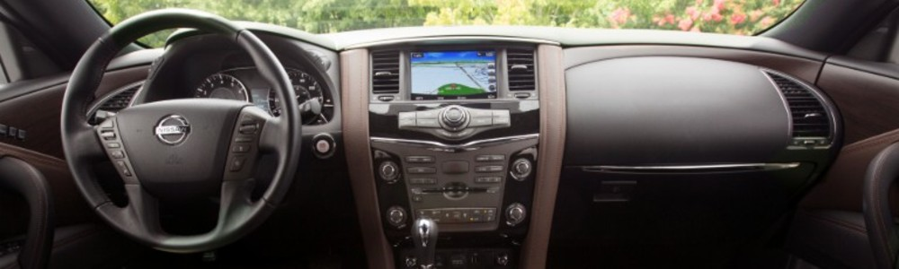 front interior of the 2020 Nissan Armada