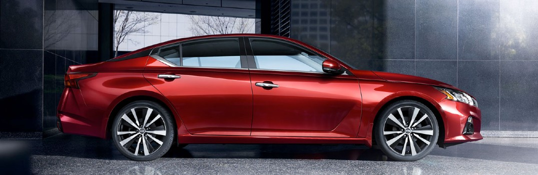 side view of red 2020 Nissan Altima