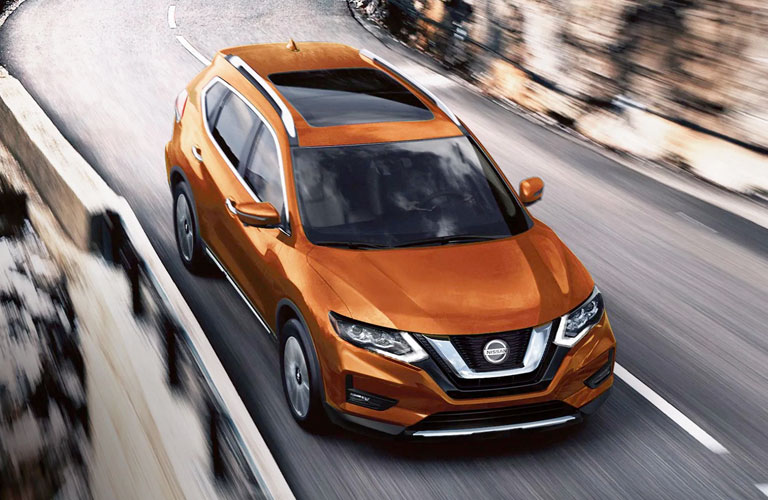 orange 2020 Nissan Rogue