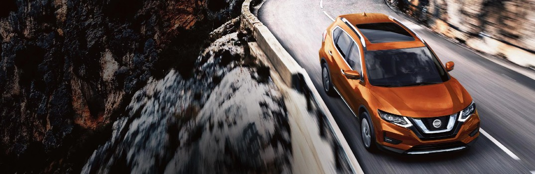 2020 Nissan Rogue driving down road