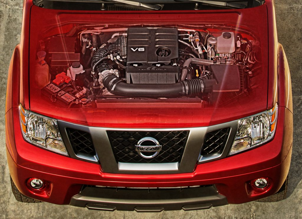 engine view in the 2020 Nissan Frontier