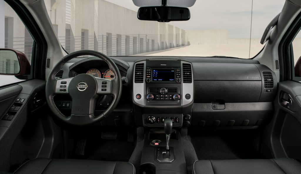 dashboard of the 2020 Nissan Frontier